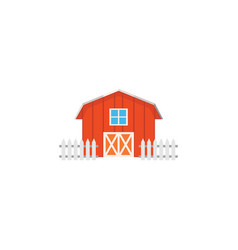 color image barn on a white background vector image