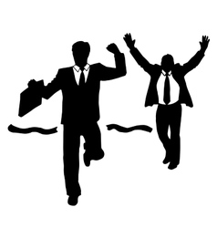 Competition Winner Men in suits vector image