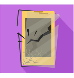 crashed smart phone display vector image