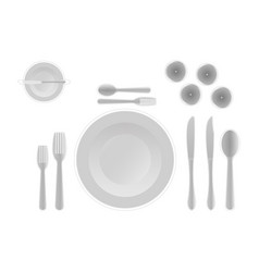 Cutlery hint rules for arranging cutlery in a vector