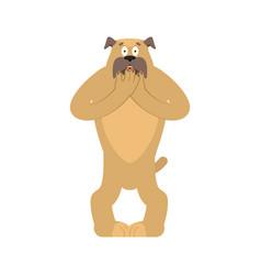 dog scared omg pet oh my god emoji frightened vector image