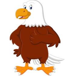 eagle cartoon giving thumb up vector image