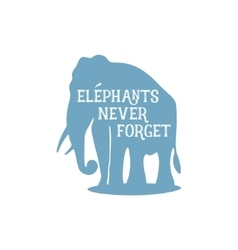 Elephant with quote vector image