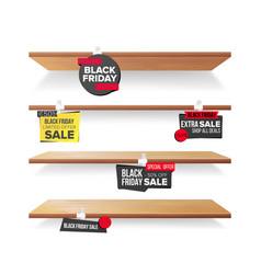 empty shelves black friday sale advertising vector image