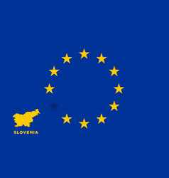 Eu flag with slovenia country european union vector