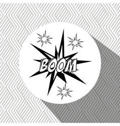 explosion pop art design vector image