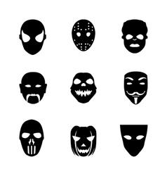 Festive carnival icons vector