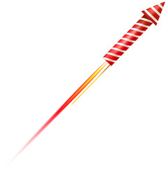 Flying fireworks rocket vector