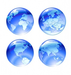 globe icons vector image