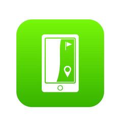 golf course navigator icon digital green vector image