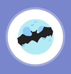 halloween bat flat vector image