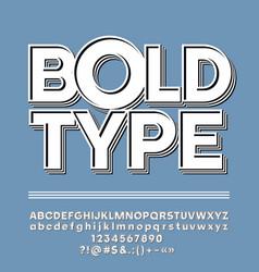 hipster vintage alphabet vector image