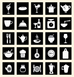 Icons set kitchen-related utensils Icons vector