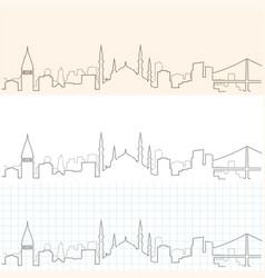 Istanbul hand drawn skyline vector