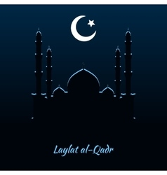 Laylat al-Qadr Islamic celebration vector image