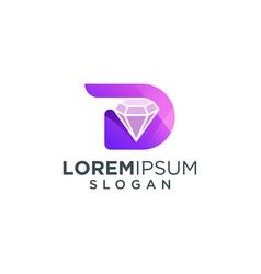 Letter d diamond logo design vector