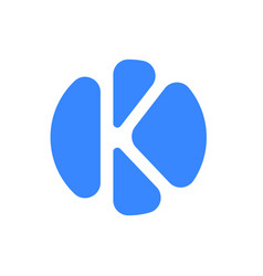 Letter logo modern abstract blue icon of k vector