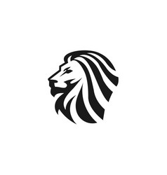 lion logo template vector image