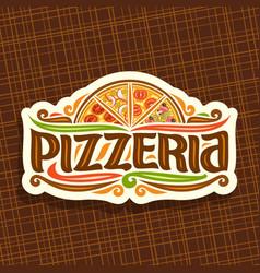 logo for italian pizzeria vector image