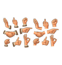 male hand sign fist like handshake ok vector image