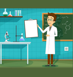 man in white lab coat vector image