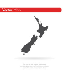 map new zealand isolated vector image