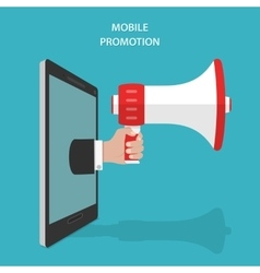 Mobile Promotion Flat Isometric Concept vector image