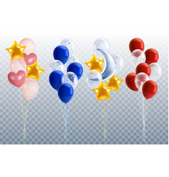 party balloons transparent set vector image