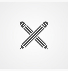 pencils icon sign symbol vector image