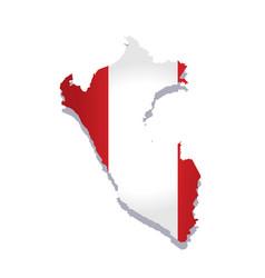 Peru flag amp map vector