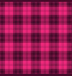 Pink girlish tartan plaid seamless pattern vector