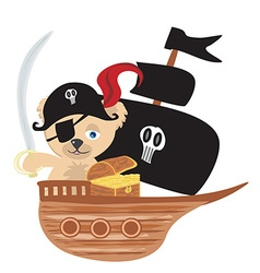 Pirate Teddy bear vector image