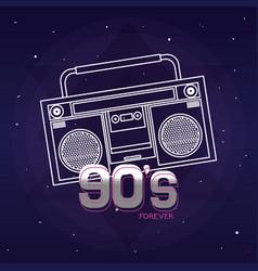 Pop art cartoon radio vector