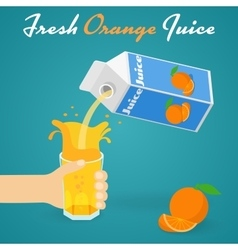 Pouring Orange Juice vector image