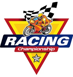 Racing Championship logo event vector