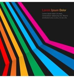 Rainbow stripes on dark background vector image