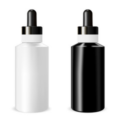 realistic bottle mock up with dropper template vector image