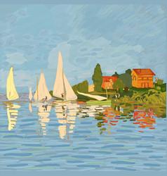 regatta in argenteuil vector image