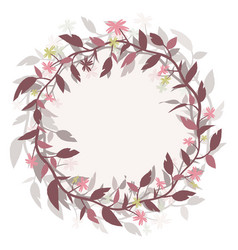 round frame wreath image isolated from the vector image