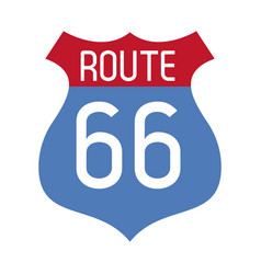 route 66 roadsign symbol vector image