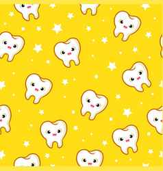 seamless pattern with teeth vector image