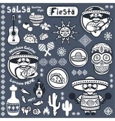 Set mexican symbols vector