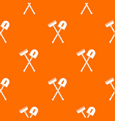 shovel and rake pattern seamless vector image