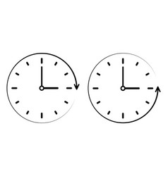 Sign icon passage of time counter clockwise vector
