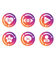 Social network statistics update buttons vector