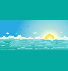 Summer ocean background vector