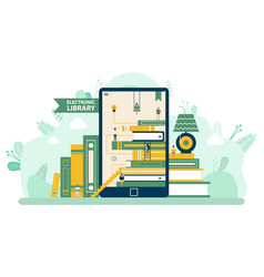 Tablet and ebook modern studying tech vector