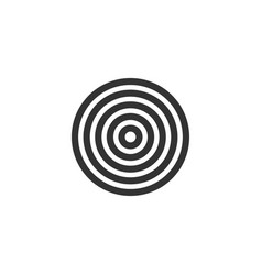 target icon flat vector image