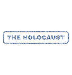 the holocaust textile stamp vector image