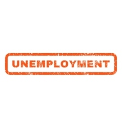 Unemployment Rubber Stamp vector